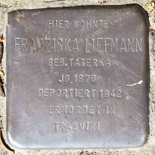 Stumbling Stone Wiesenerstraße 33
