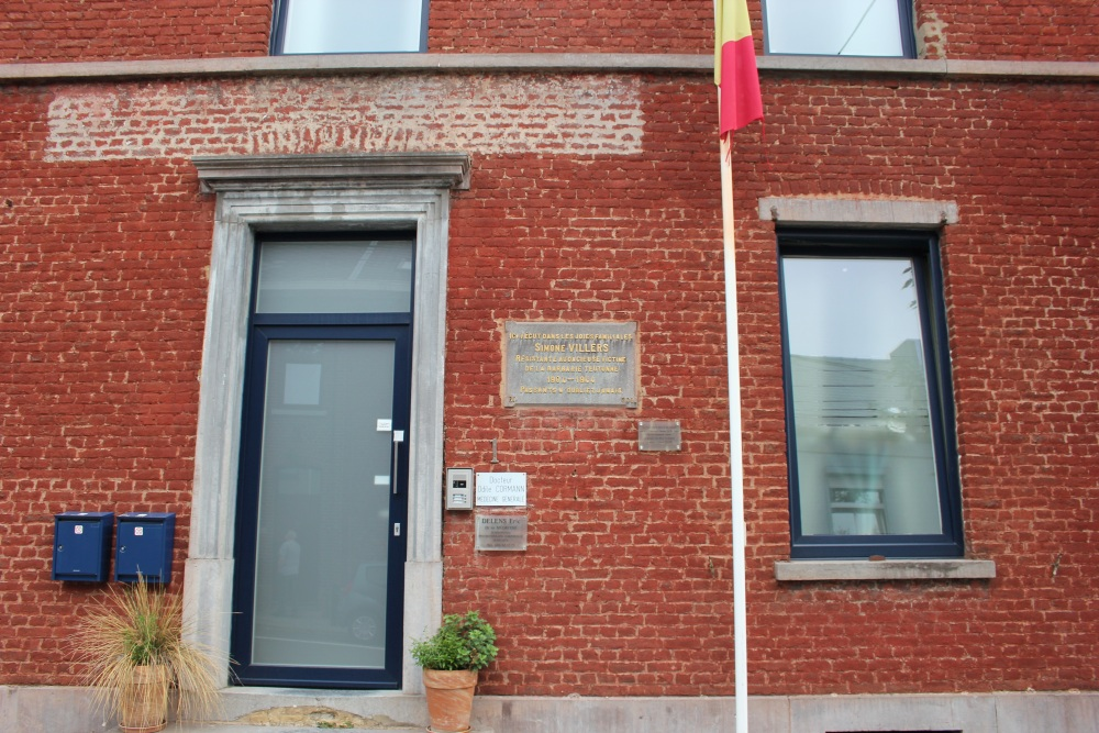 Commemorative Plaque Killed Resistance Fighter Mont-Saint-Guibert