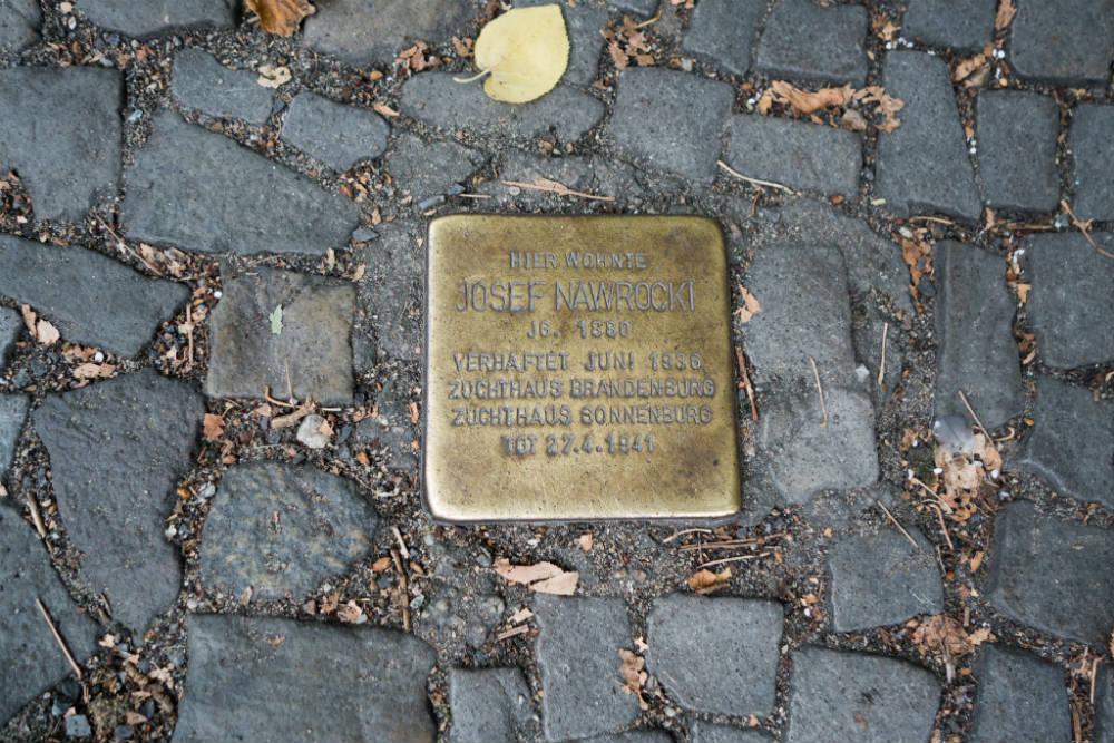 Stumbling Stone Straßburger Straße 24