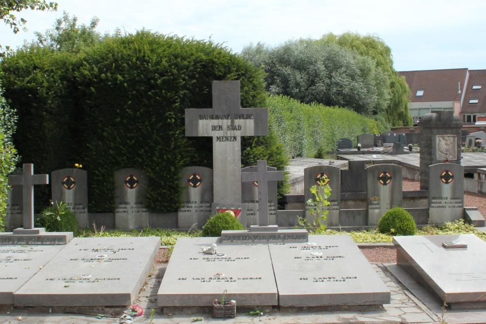 Belgische Oorlogsgraven Menen
