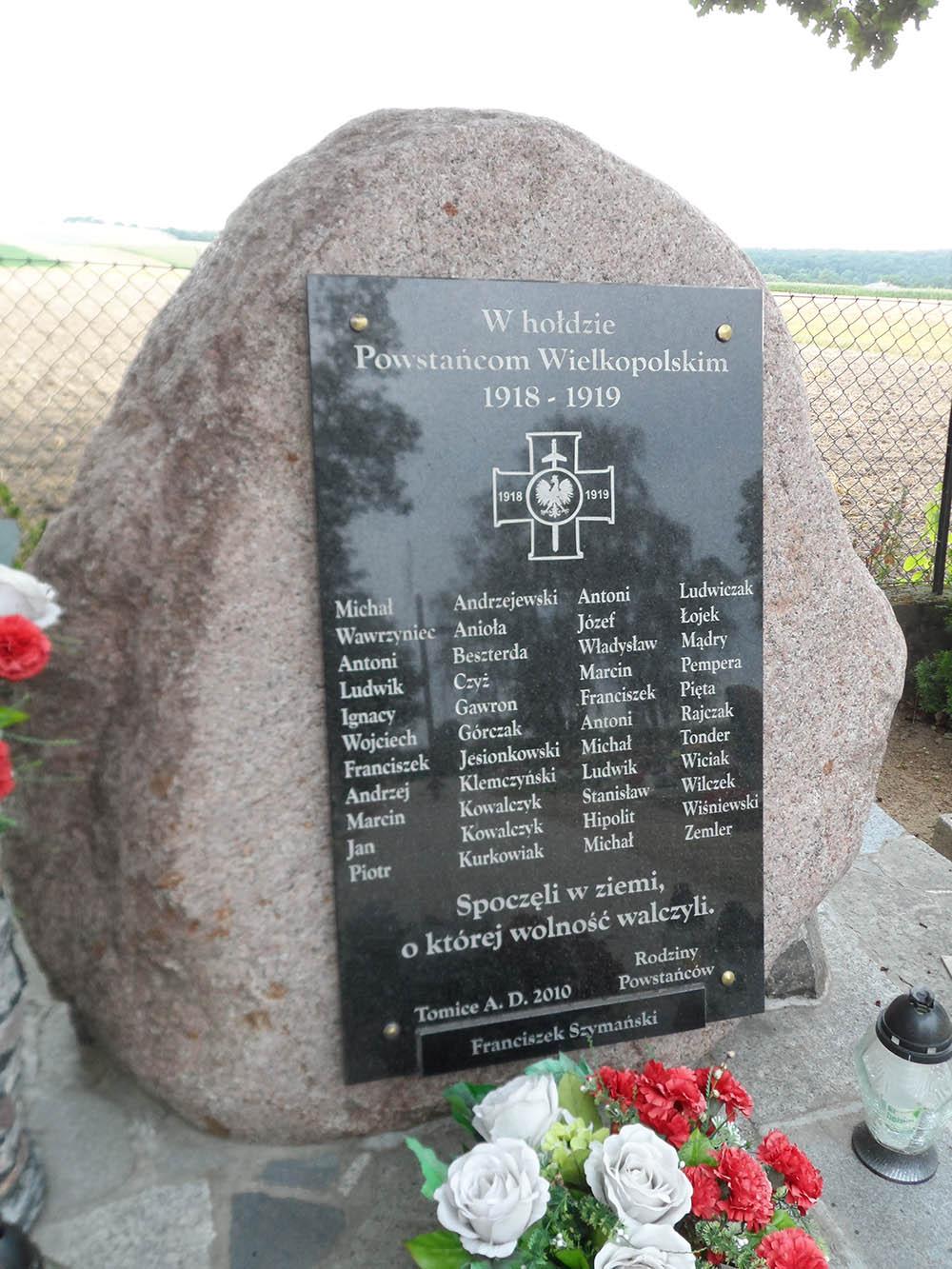 War Memorial 1918-1919 Tomice