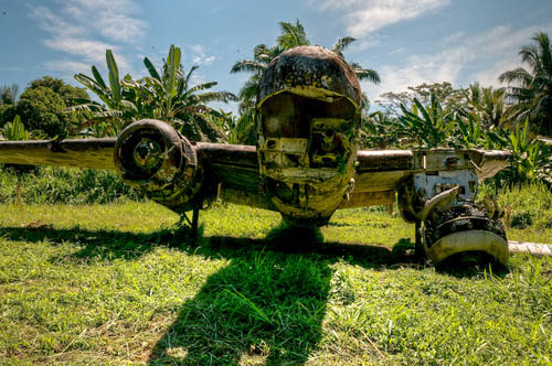 Crash Site & Wreckage B-25H-5 Mitchell 43-4513