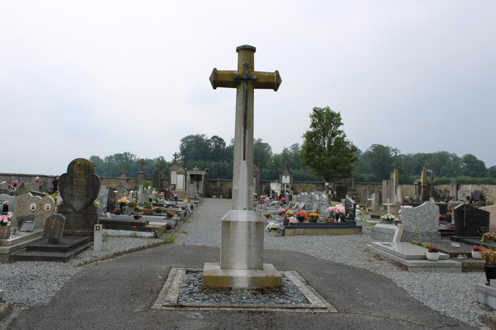 Belgian War Graves and Memorial Cross Roucourt