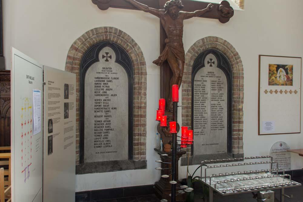 Commemorative Plaque Military Victims Sint-Niklaaskerk Veurne