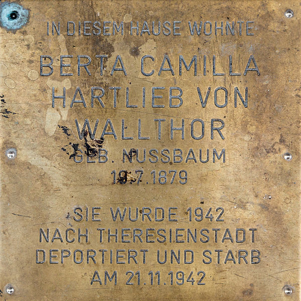 Gedenksteen Lambrechtgasse 13