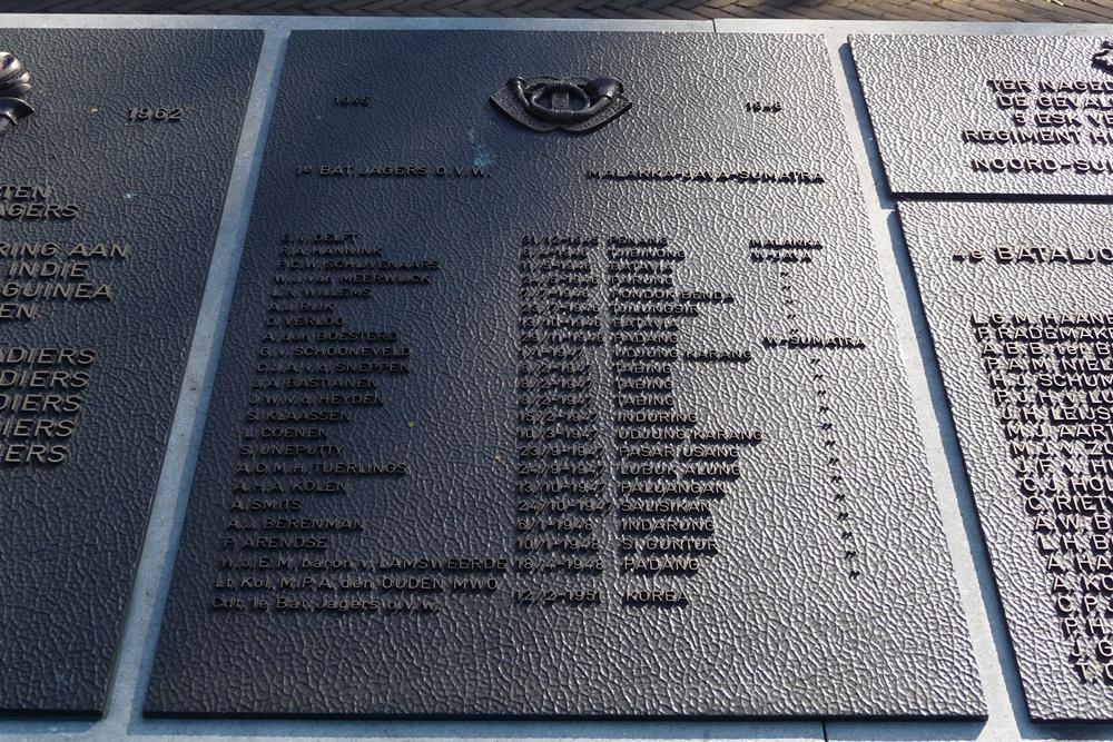 Plaquette 1e Bataljon Jagers O.V.W.