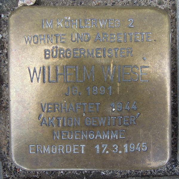 Stolperstein Rathausplatz 14