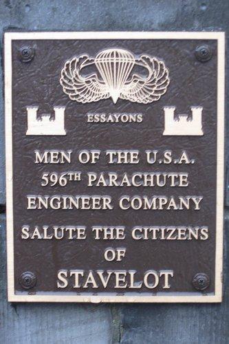 Plaque Bridge Stavelot