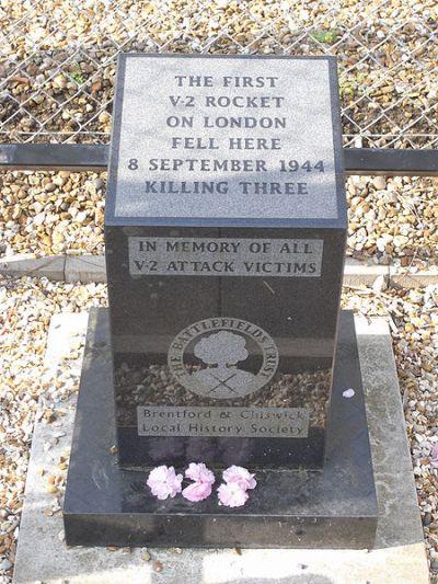 Monument Eerste V2 op Londen