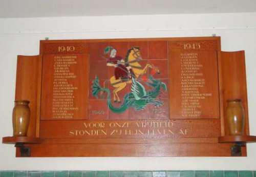 Plaque Fallen Alumni Former National High School HBS Vlissingen
