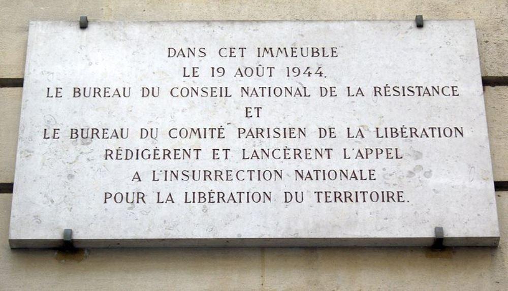 Plaque Call for National Insurrection