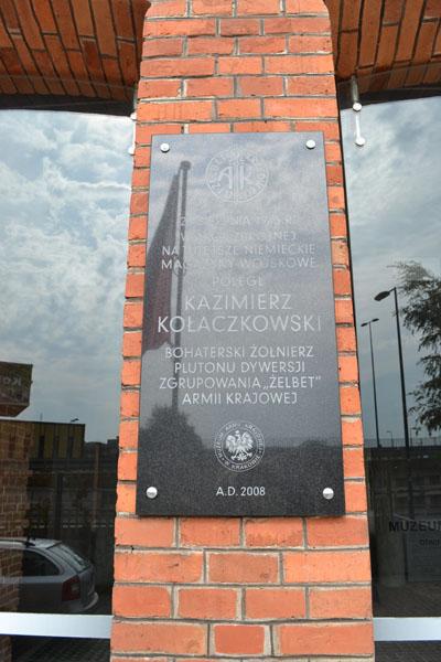 Plaque Kazimierz Kolaczkowski