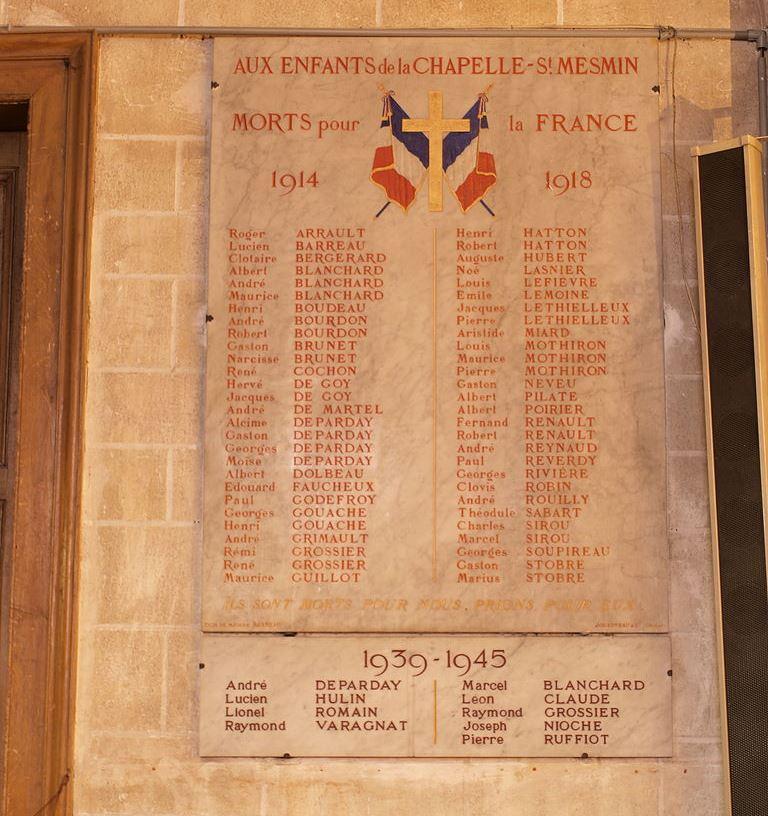War Memorial La Chapelle-Saint-Mesmin