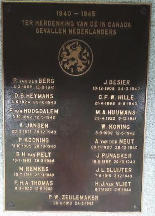 Plaquette Omgekomen Nederlanders