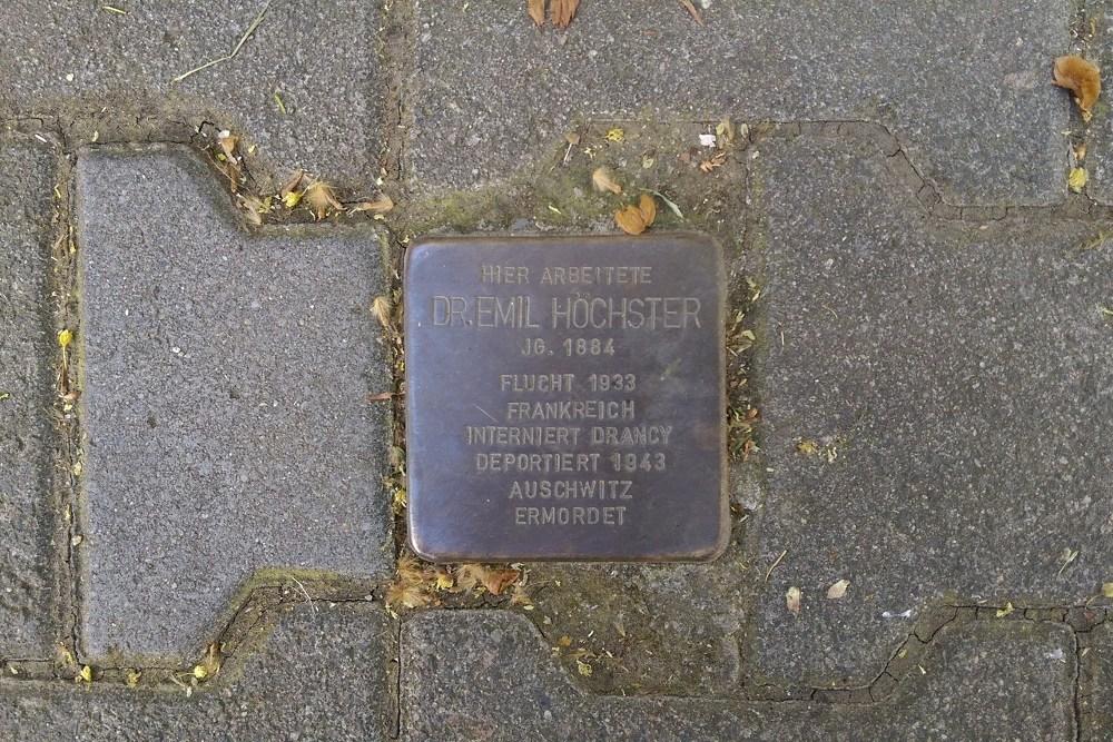 Stumbling Stone Frankfurter Straße 18