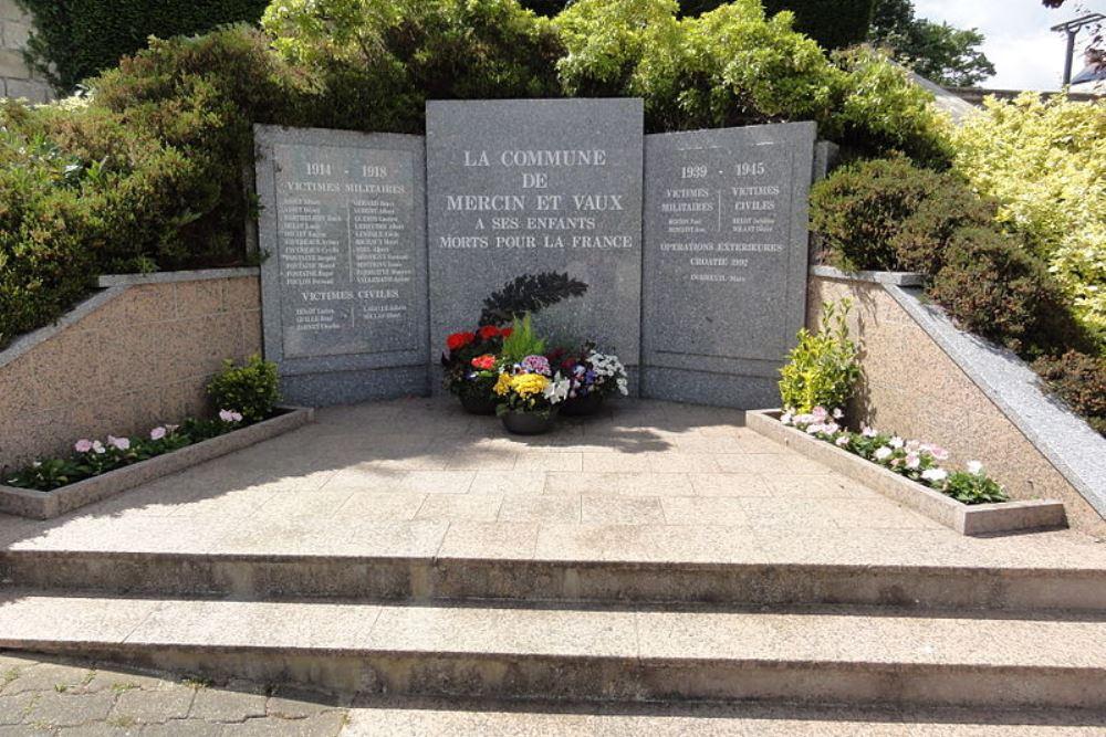 War Memorial Mercin-et-Vaux