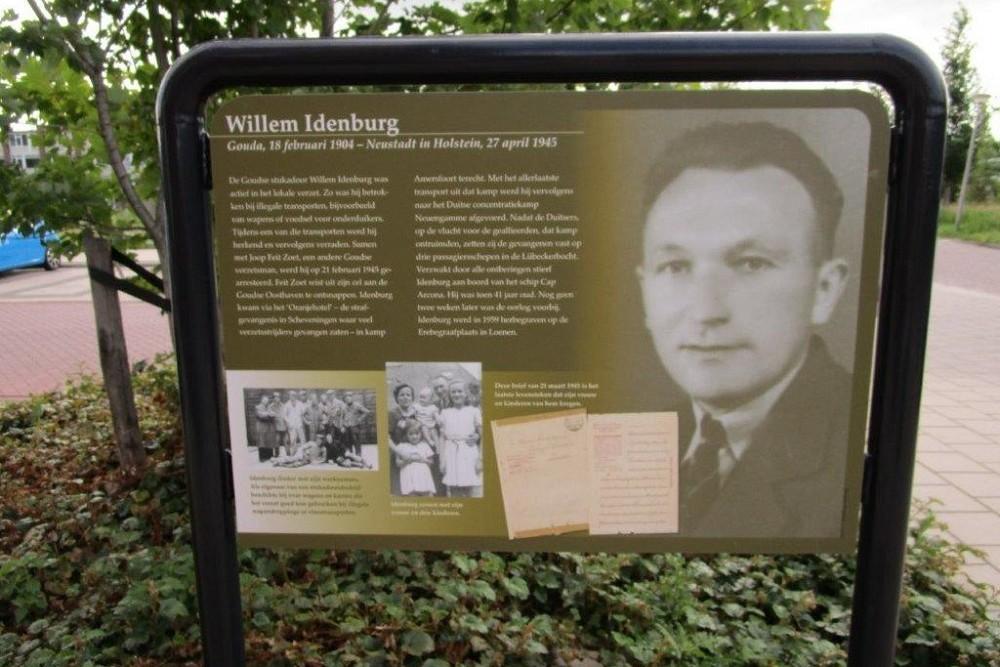 Information Panel Resistance Fighter Willem Idenburg