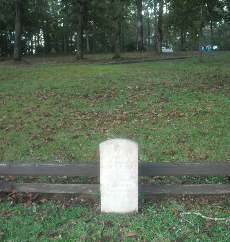 Grave of Major Lemuel Purnell Montgomery