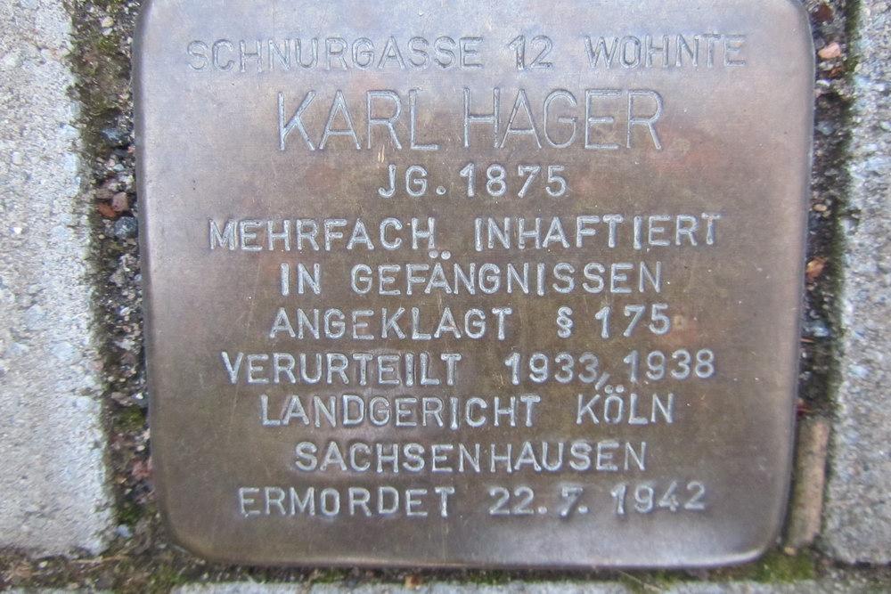 Stolperstein Schnurgasse 12
