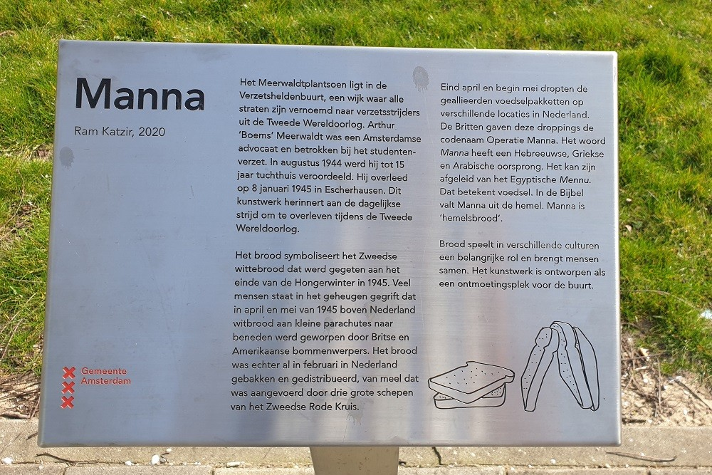 Manna Monument Meerwaldtplantsoen Amsterdam