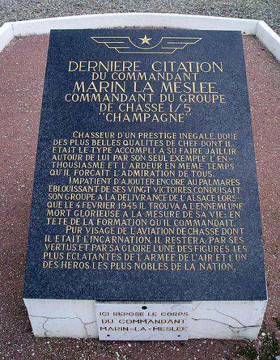 Memorial and Grave Edmond Marin la Meslée