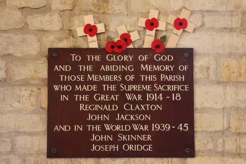 Memorial Plaque Melton Mowbray