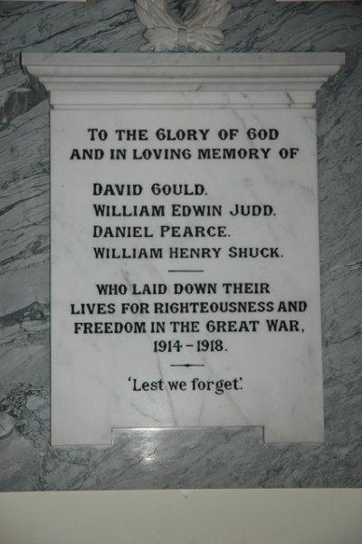 War Memorial St. John the Baptist Church