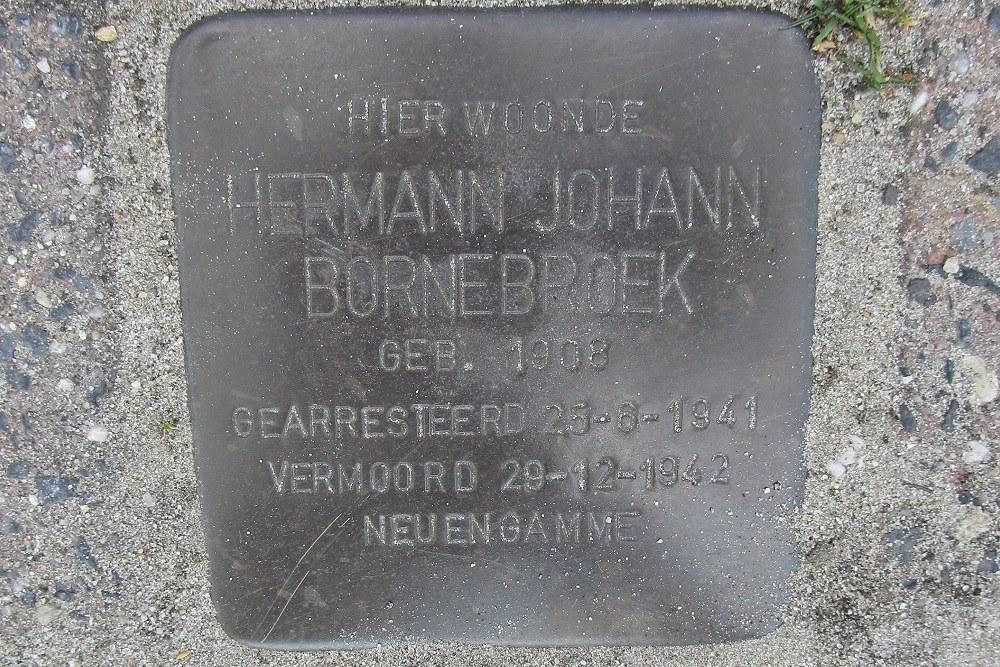 Herdenkingssteen Schipholtstraat 424