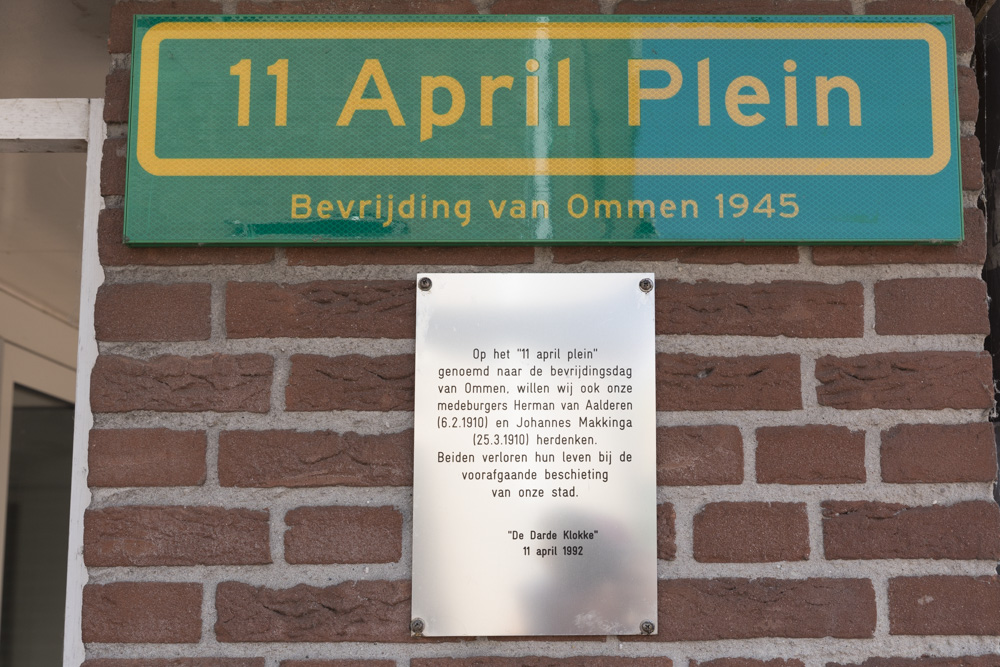 Plaquette Bevrijding van Ommen 1945