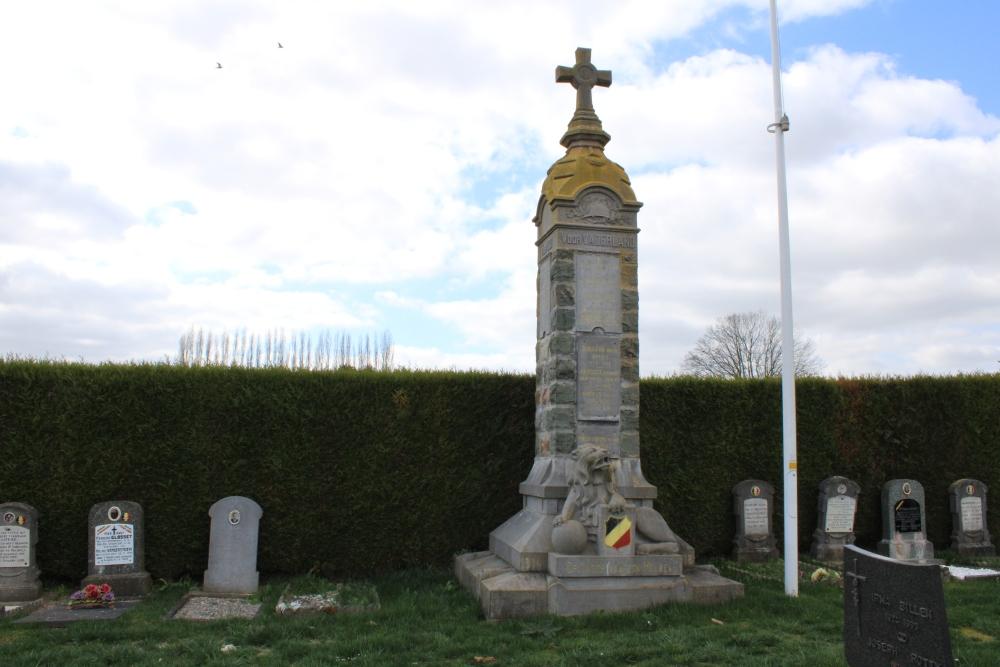 Oorlogsmonument Begraafplaats Oplinter