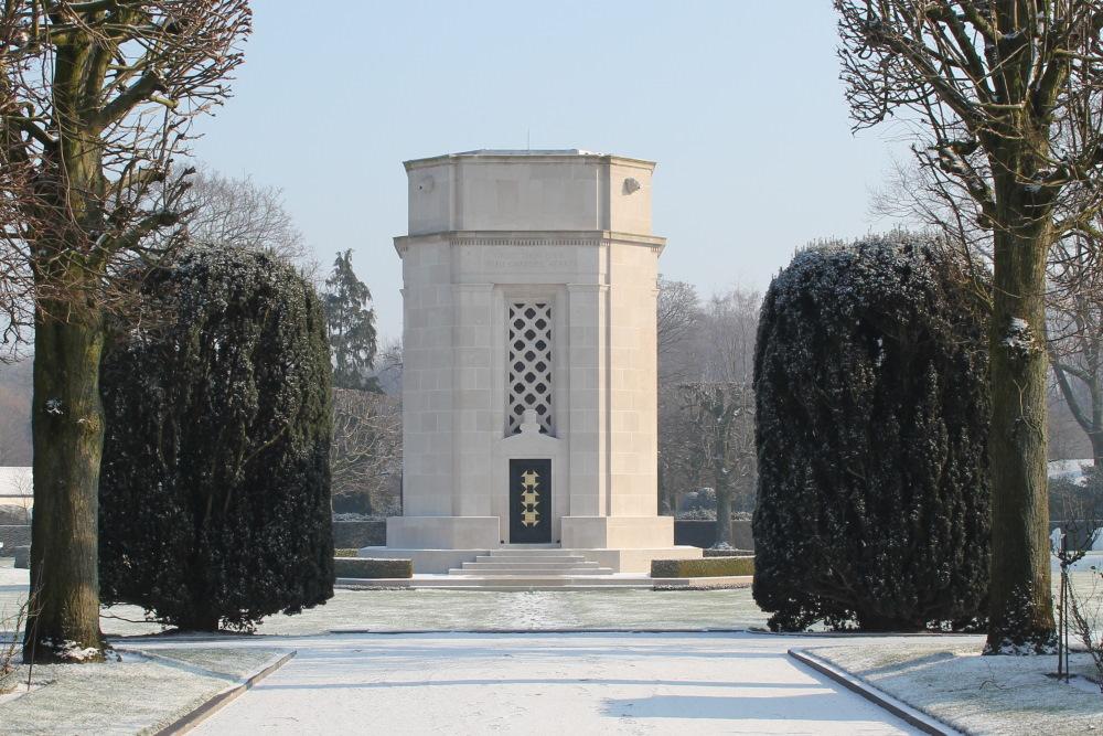 Chapel of the American War Cemetery In Flanders Field Waregem