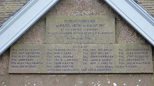 War Memorial Wolfhill