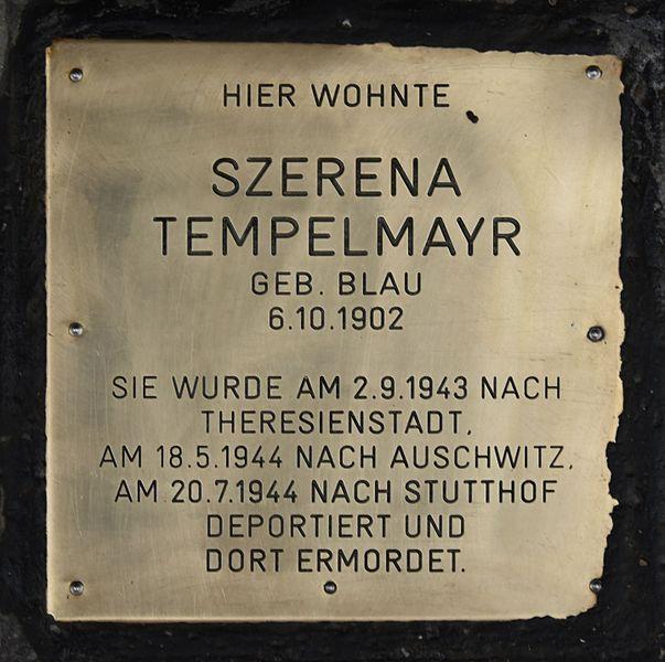 Gedenksteen Neubaugürtel 18