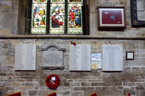 Plaquettes & Herdenkingsramen St Marys kerk Melton Mowbray