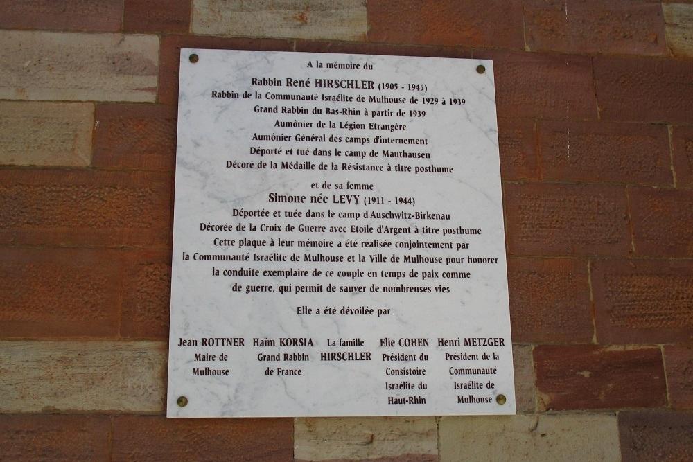 Herdenkingsplaquette van de synagoge