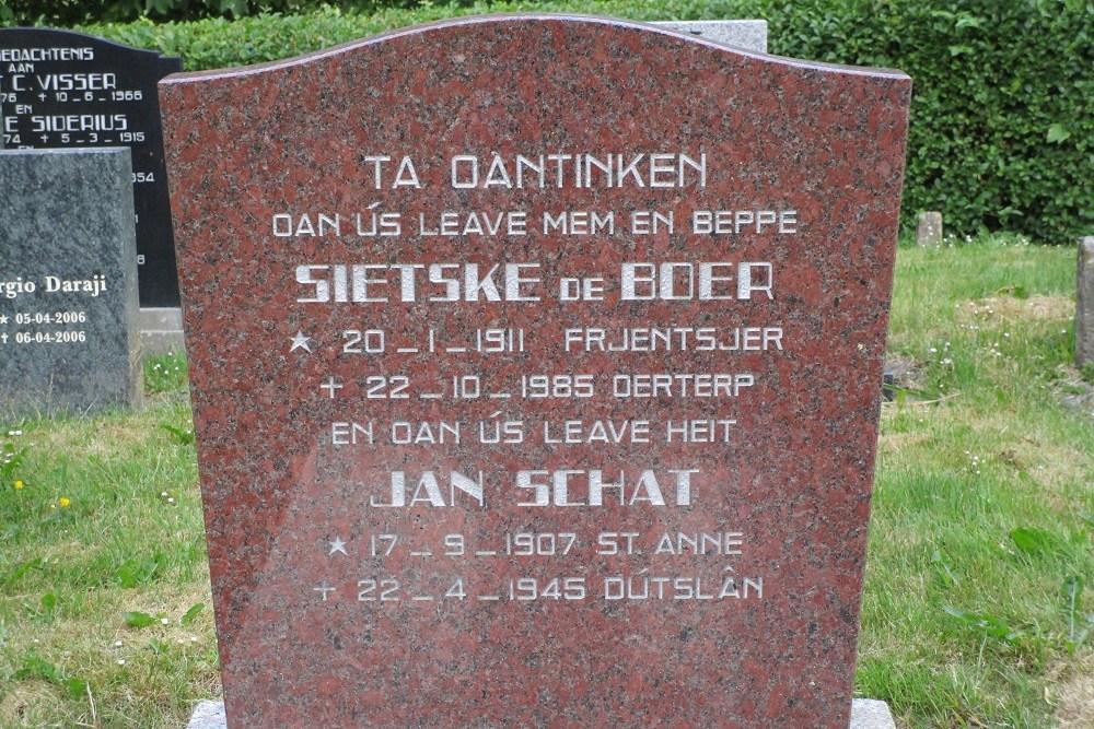 Memorial Stone on Dutch Churchyard Dongjum