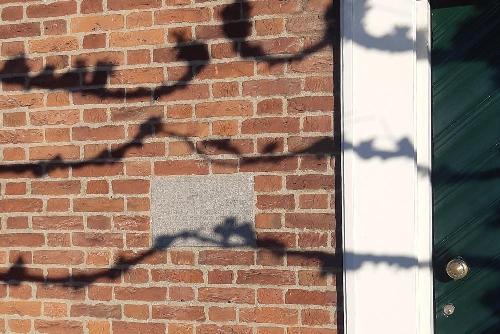 Plaquette Frans H.C. Aarts Bergen op Zoom