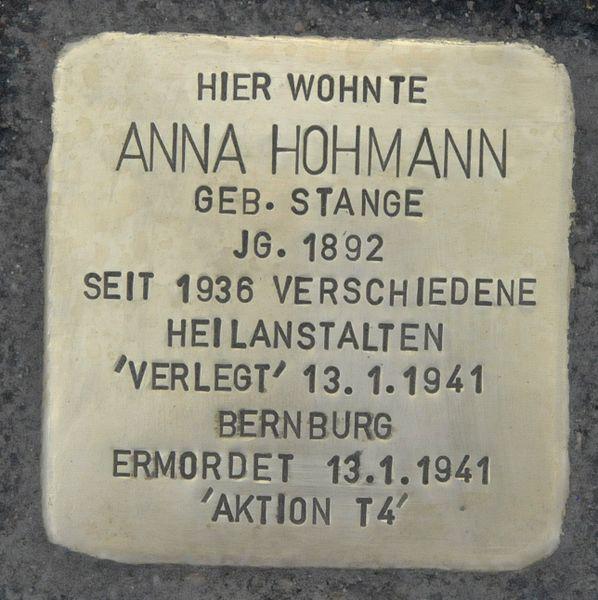 Stolperstein Vorderstraße 86