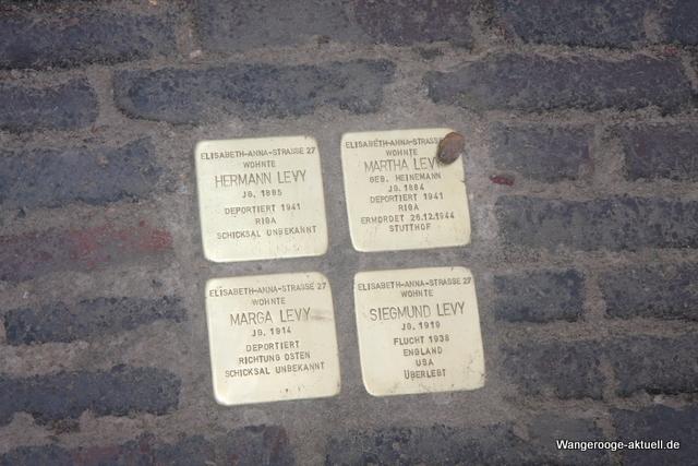 Stumbling Stones Elisabeth-Anna-Straße 27
