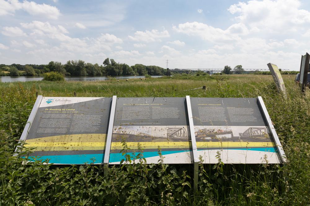 Information Sign The Maas Bridge at Gennep