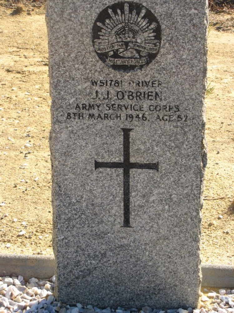 Commonwealth War Grave Wongan Hills Cemetery
