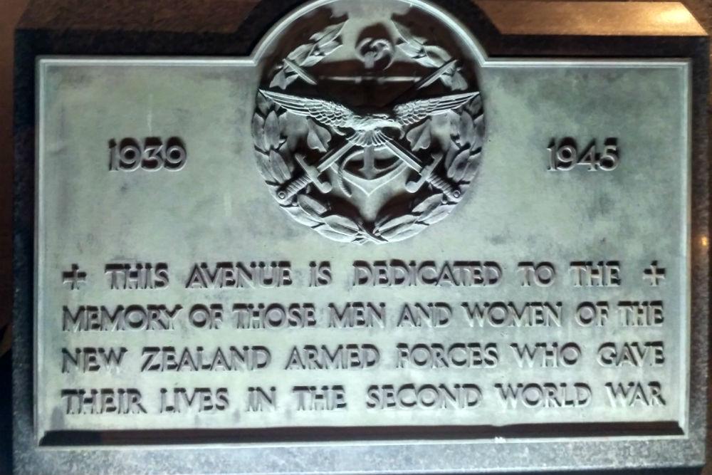 Toewijdingsplaquette Christchurch