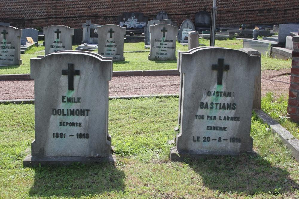 Belgische Oorlogsgraven Limelette