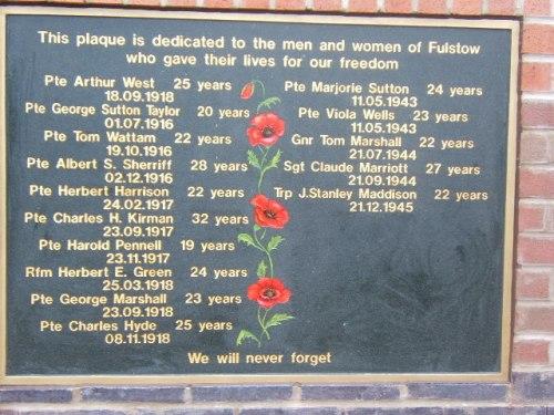 War Memorial Fulstow