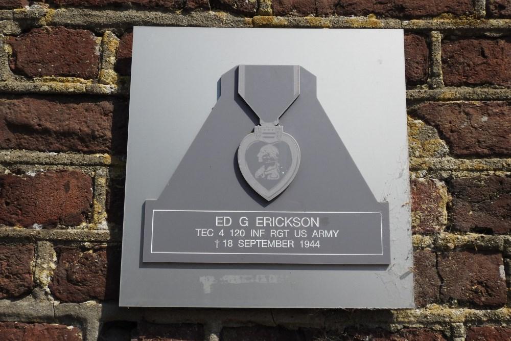 Plaque Ed. G. Erickson