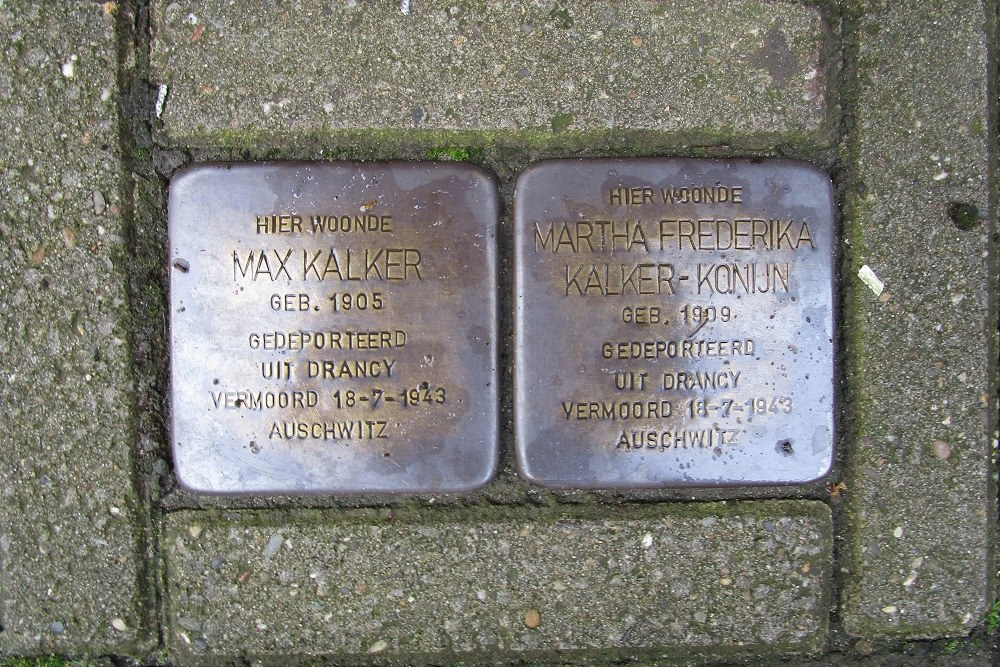Remembrance Stones Wouwermanstraat 37