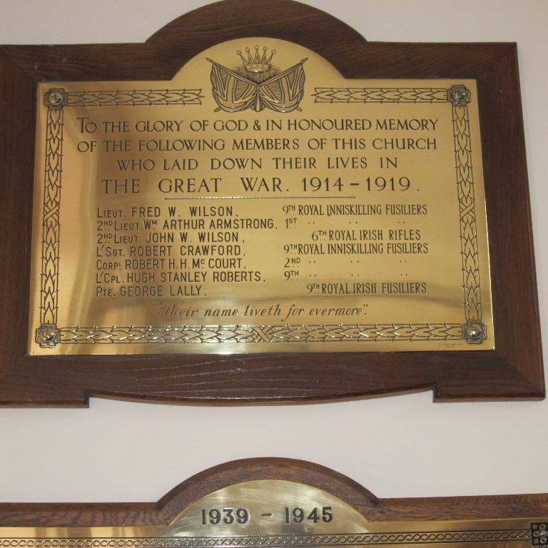 Oorlogsmonument Darling Street Methodist Church