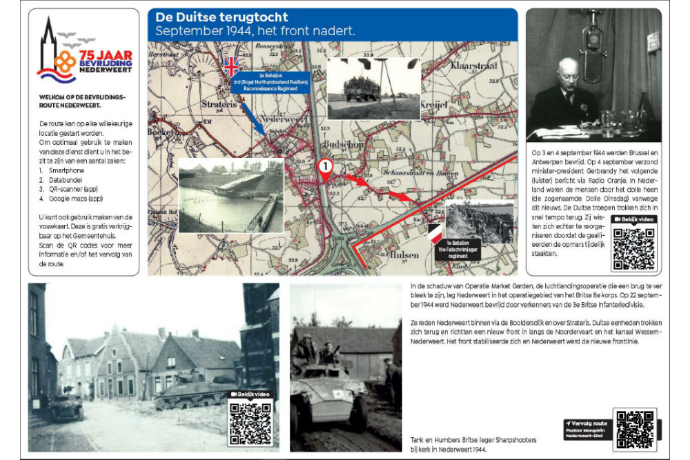 Bevrijdingsroute Locatie 1 - De Duitse Terugtocht