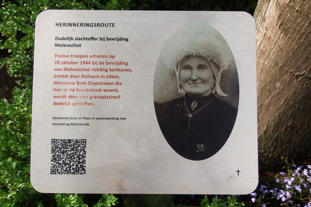 Herinneringsroute Tweede Wereldoorlog Dodelijk Slachtoffer Bevrijding in Molenschot