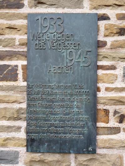 Plaquette Aachener Heiligtumsfahrt 1937